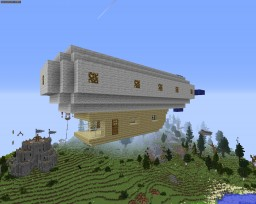 My first airship (Movecraft) Minecraft Map & Project