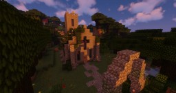 Church with an underground Cemetery Minecraft Map & Project