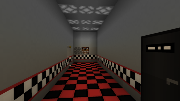 Five Nights at Freddys 1+2 Map Minecraft Project