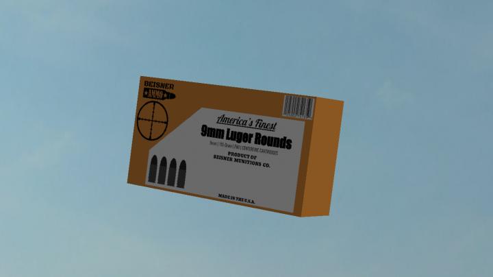 Box of 9mm Cartridges