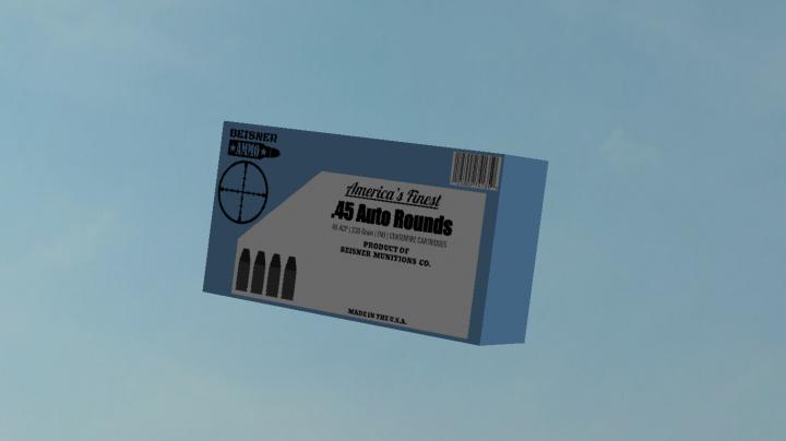 Box of .45 ACP Cartridges