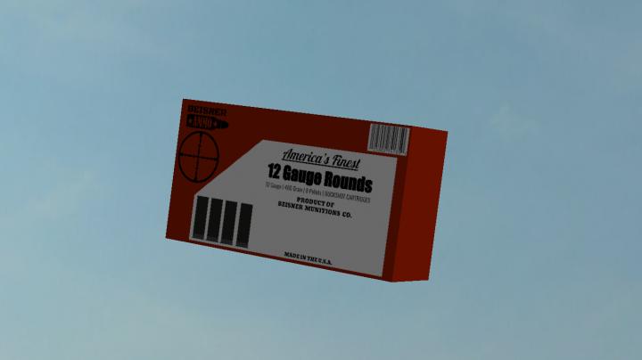Box of 12 Gauge 8 pellet shotgun rounds