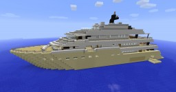 Here comes the Sun Megayacht Minecraft Map & Project