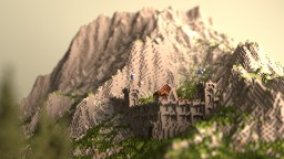 Asperia Builds - Mountain Fortress Minecraft