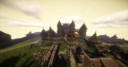 Bracrevan a Medieval City + Download new&improved Minecraft Map & Project