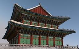 Oriental building - Geunjeongjeon (勤政殿) Minecraft