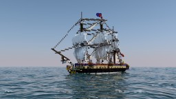 L'Hermione - French full interior Frigate (Fleet Month) Minecraft