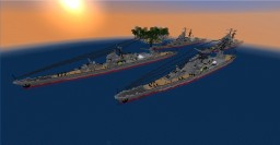 Takao-Class Heavy Cruiser Minecraft Map & Project