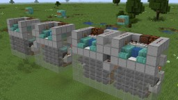 Tileable afk fish farm with item sorting Minecraft Map & Project
