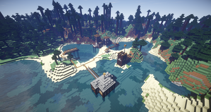 The Lodge, The Dock, The Spawn, The Old Well, The Barracks, and The Bridge.