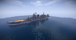 "IJN Light cruiser ""Ōyodo"" Minecraft Map & Project"