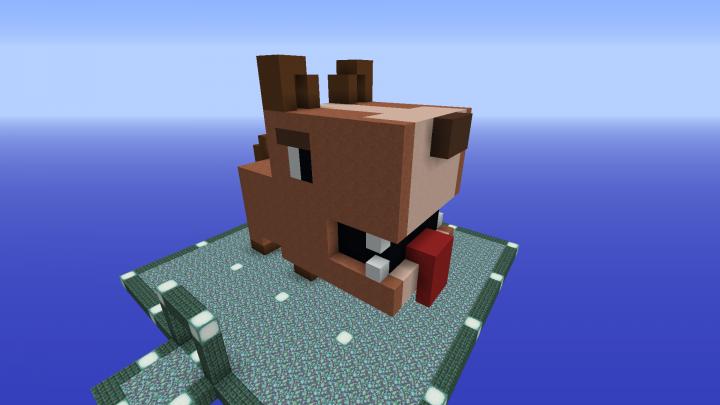 3d Pixelart Dog Minecraft Project