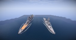"IJN Light cruiser ""Ōyodo""&JMSDF DE-231""Ōyodo"" Minecraft Map & Project"