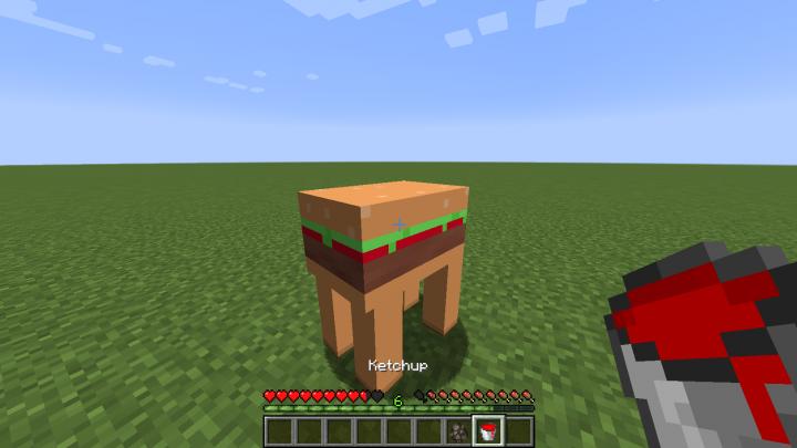 Milk a burger for Ketchup!