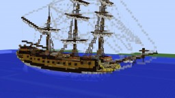 HMS San Luez (Fictional 5th Rate Ship Of The Line Minecraft Map & Project
