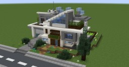 Simple(ish) modern house Minecraft