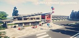 Eureka Springs Highschool - Project Realism 4K Minecraft Map & Project