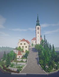 Bled Island - Pilgrimage Church of the Assumption of Maria Minecraft