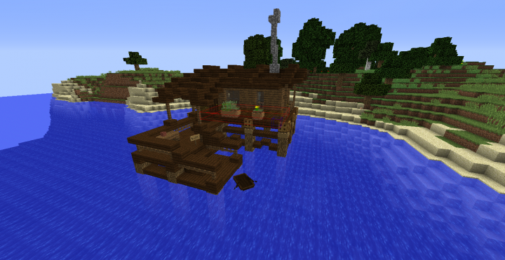 Recreation Of Grian S Water House Minecraft Map