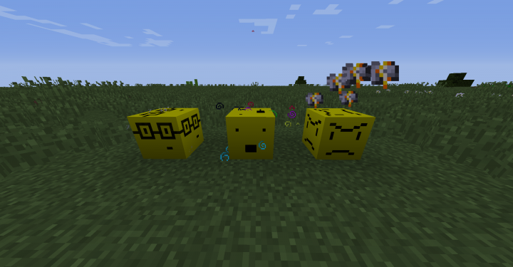 The Nerd Block, Scared Block, and Angry Block.