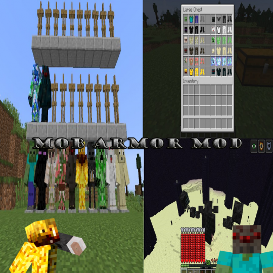 Popular Mod : Minecraft Mob Armor Mod 1.0.1 for 1.12.2(Finally released!)
