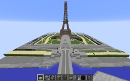 [WIP] The Eiffel Tower and Champ de Mars in Paris, France Minecraft Map & Project