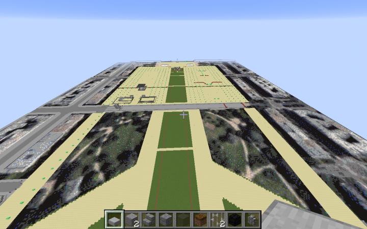 emerald blocks are where trees will go.