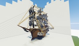 Steampunk pirate ship Minecraft Map & Project