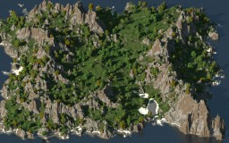 Island in the sea - 1500x1500 Minecraft Map & Project