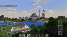 Suleymaniye Mosque and Maiden's Tower in Istanbul, Turkey at Minecraft PE Minecraft