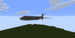 Lockheed C-5B Galaxy 1.5:1 scale Minecraft Map & Project