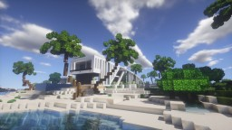 MODERN HOUSE OF BEACH Minecraft Map & Project