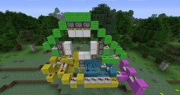 3x3 piston door Minecraft Map & Project