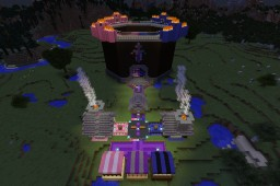 The COMPLETE New and Improved Challenge Games Area (PopularMMOs Themed) Minecraft Map & Project