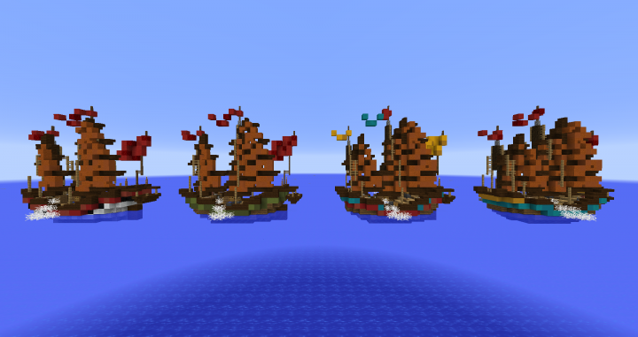 All ships without shaders.