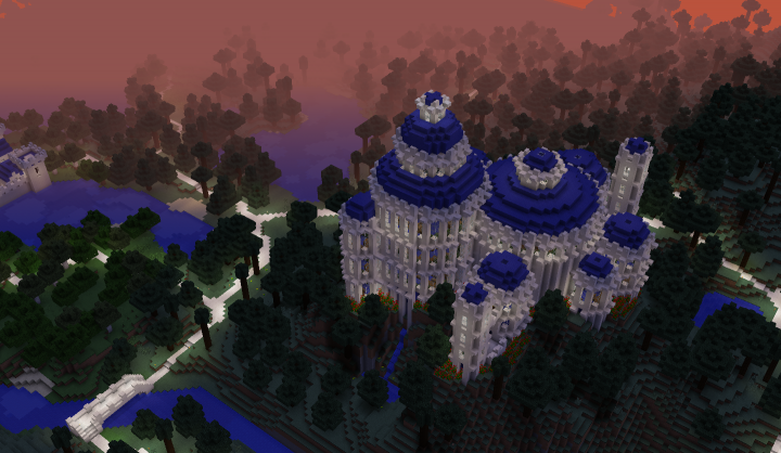 Naboo-inspired castle. Marked number 7 on the map.