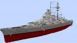 DKM Bismarck - Bismarck class Battleship Minecraft Map & Project