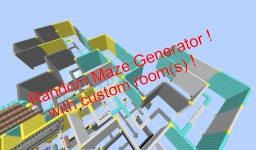 Random Maze Generator with custom rooms, Minecraft 1.12+ Minecraft Map & Project
