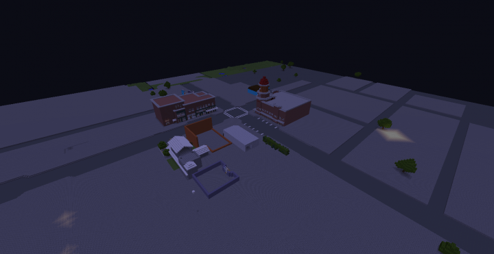 what i have built so far TOWN CENTRE..... -OUTDATED PICTURE-
