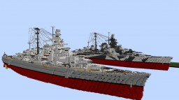 DKM Tirpitz - Bismarck Class Battleship 1:1 Minecraft Map & Project