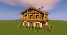 Building tutorial: Swiss chalet style Minecraft Map & Project
