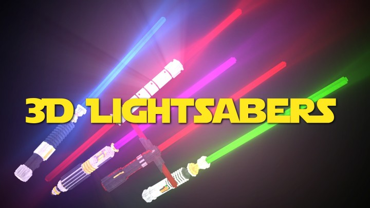 Popular Texture Pack : Glowing 3D Lightsabers | 1.8-1.13 | *NEW* 1.8 RELEASE!