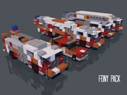 NYC FDNY Fire Department Truck Pack Minecraft