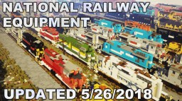 [Updated 5/26/2018] National Railway Equipment rail yard Silvis, IL (OVER 270 LOCOMOTIVES) Minecraft Map & Project