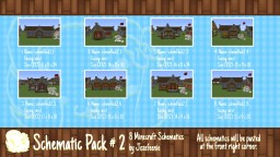 Schematic Pack #2 Minecraft Map & Project