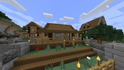 Starter House and Villager Farm Minecraft