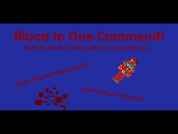 Blood In One Command! [1.12 Minecraft] Minecraft Map & Project