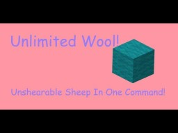 Unshearable Sheep In One Command! [1.12 Minecraft] Minecraft Map & Project