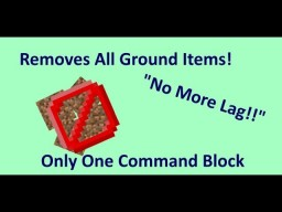 Lag Clear In Vanilla Minecraft! | One Command Creation [1.12 Minecraft] Minecraft Map & Project