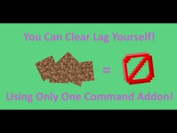 LagClear Addon In One Command! [1.12 Minecraft] Minecraft Map & Project